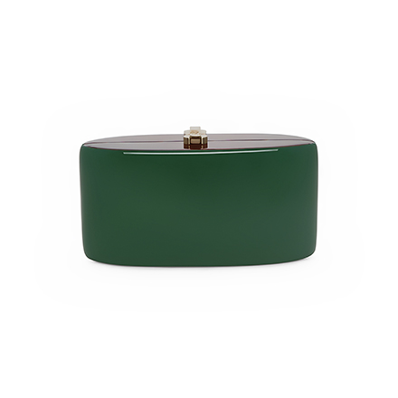 Candy Clutch - dark green