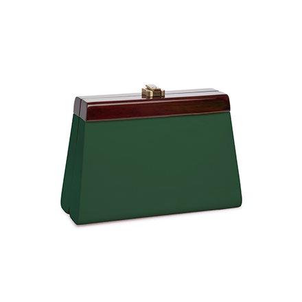 Cindy Clutch - dark green