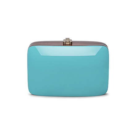 Rio Clutch - turquoise blue