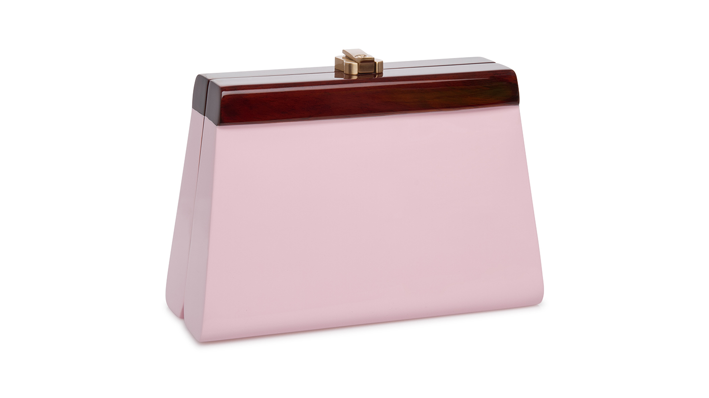 Detail_Cindy Parfait Pink Clutch_right