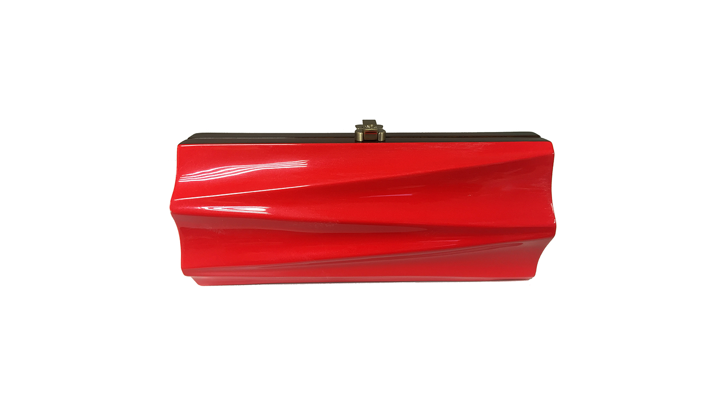 Detail_Milano Clutch_Red_front