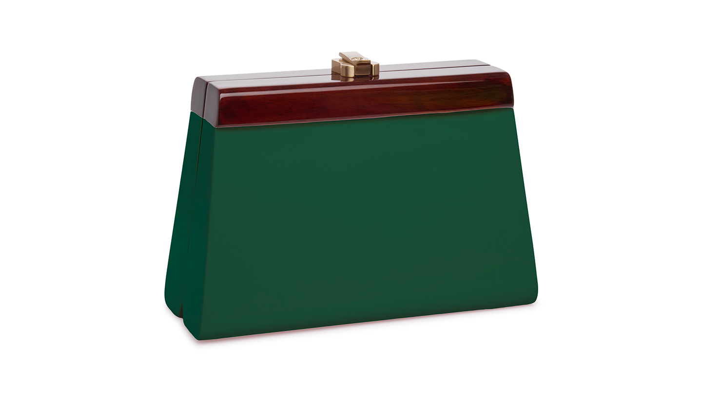 Detail_P)Cindy Clutch_DarkGreen_right