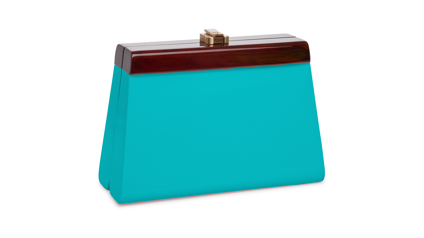 Detail_P)Cindy Clutch_TurquoiseBlue_right