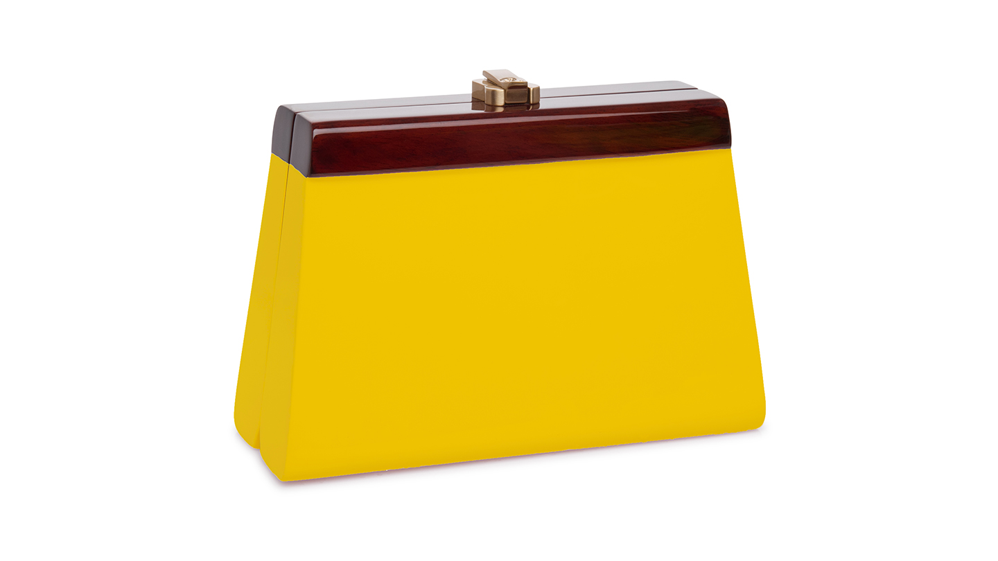 Detail_P)Cindy Clutch_Yellow_right