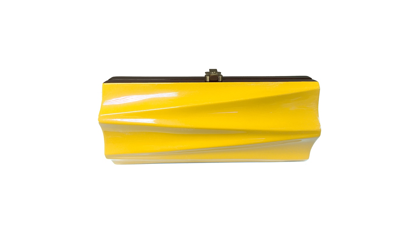Detail_P)Milano Clutch_Yellow_front