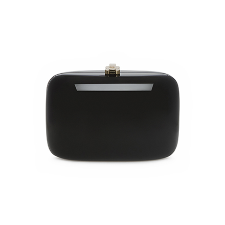 Clementine Clutch - midnight black