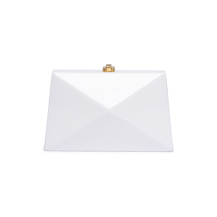 Baby Diaz Clutch - brilliant white
