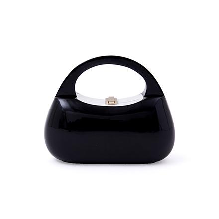 Mandy Handbag - midnight black with white inlay
