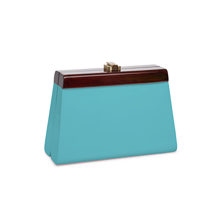 Cindy Clutch - turquoise blue