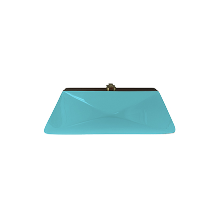 Diaz Clutch - turquoise blue