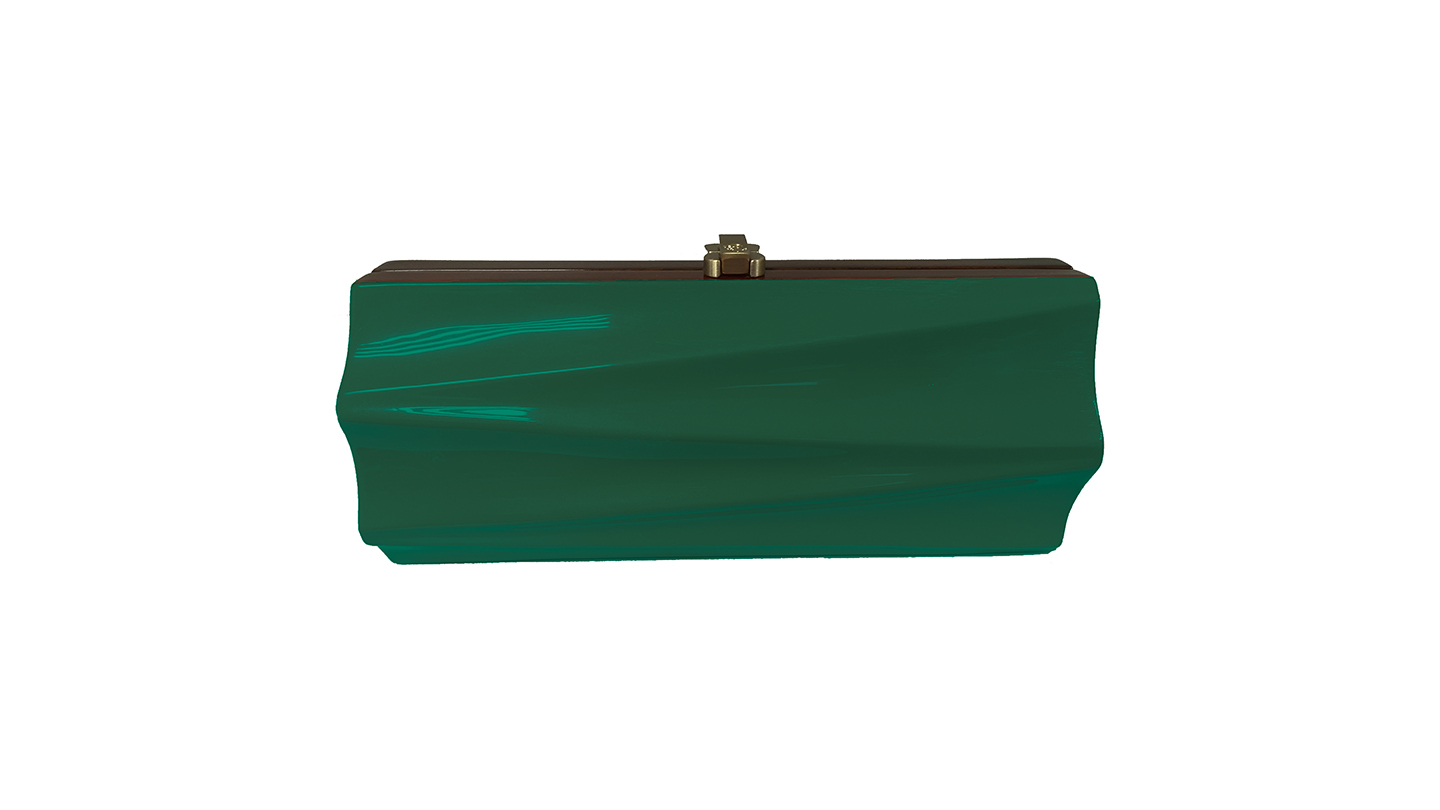 Detail_P)Milano Clutch_DarkGreen_front