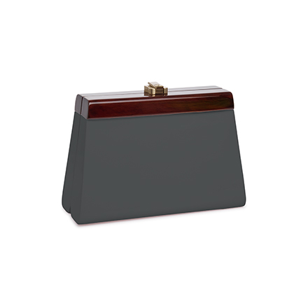 Cindy Clutch - steeple grey