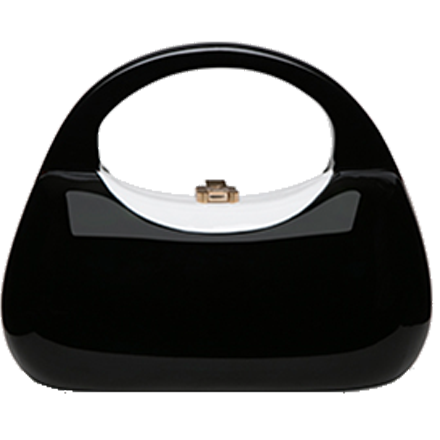 Mandy Handbag midnight black with white inlay